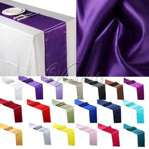 Chemins de table de satin Décor Bow Tissu Nappe offre Sash Chaise satin Couverture T200107 Table événement 30cm * 275cm Parti yxlmV