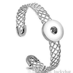 Прибытие Браслет Fit 18mm браслет Нуса Open Hot Charm Новый 6шт / много Продажа ювелирных изделий Snap кнопки Hollow Кнопка манжета Diy bbyvc bde_home