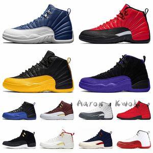 2020 새로운 농구 신발 12S jumpman 스톤 블루 (12) 역 독감 게임 대학 골드 (12) 다크 콩코드 트레이너 운동화 크기를 망 망 (13)