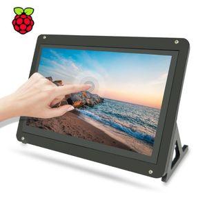 Monitora Monitor de pantalla de pantalla táctil de 7 pulgadas, pantalla táctil 1024x600 IPS LCD capacitiva para Raspberry Pi