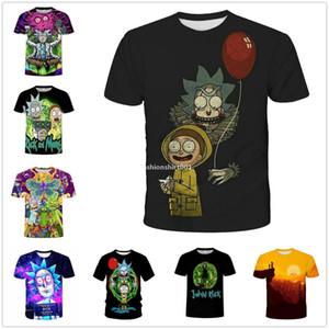 Desenhador de moda camisetas Os homens Short Womens Rick mangas e Morty 3D Verão Tops Casual D14 High Street Mens Clothing