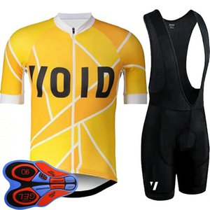VOID Team Men Cycling jersey Suit summer quick dry road bicycle outfits short sleeve bike shirt bib shorts set sports uniform Y20091105