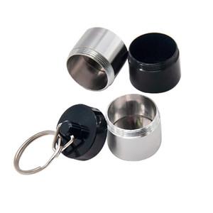 Portable Dab Cera Tabacco Contenitore 4 strati Medicina scatola di metallo pillola Cases Holder Vasi bagagli per Dry Herb vaporizzatore di erbe portachiavi