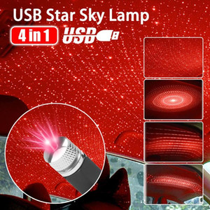 USB Car Roof Star Night Light Projector Atmosphere Galaxy Lamp Decorative Starry Sky Light Adjustable Multiple Lighting Effects