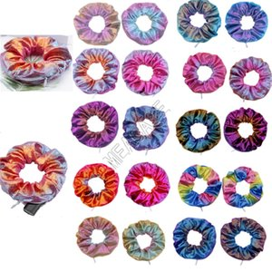Zipper Scrunchies Color Gradient Scrunchy elastische Haar-Riegel-Seil-Frauen-Mädchen-modische Haarband Pferdeschwanz-Halter-Haar Accesseries D91507
