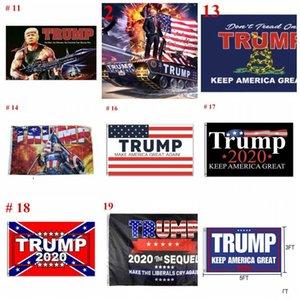 DHL UPS precio de fábrica de la nave 19 estilos 3x5 FY6061 Bandera Trump 2020 Elección de EE.UU. Trump indicador de la bandera 90x150cm