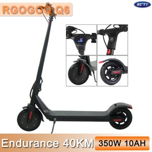 UE della Scooter elettrico 350W / 36V 10AH pieghevole Scooter Q6 MK042 2 Ruote 8.5inch Solid Tyre per adulti Power LED display Long Endurance