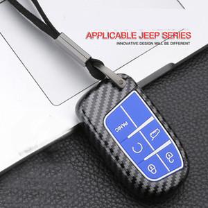 Car Key Case copertura per Jeep Compass Grand Cherokee Patriot Renegade Wrangler chiave intelligente con Metal materiale in silicone fibbia