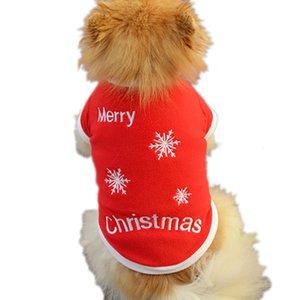 panDaDa Novos Natal Animais Roupas Dog Sweater filhote de cachorro camisola morna T-shirt Brasão cães pequenos Gatos Vestuário LH8s