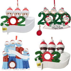 2020 New Hot Venda Quarentena partido Aniversários Presente de Natal Decoração Família de produtos personalizada de 4 ornamento social Distanciamento