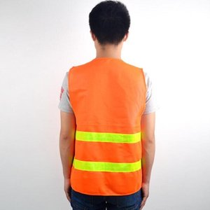 Gilet di sicurezza ad alta visibilità riflettente striscia di traffico gilet da costruzione costruzione edificio traffico servizi igienico-sanitari lavoratori vestiti riflettenti HWC2765