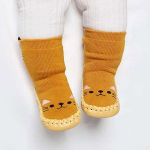 Kids Toddler Baby Girls Boys Cartoon Animal Thick Warm Anti-Slip Socks Slippers chaussette haute fille kids christmas socks 2020