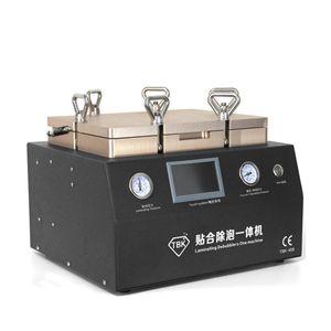 trasporto libero 12inch LCD pompa TBK-408 Vacuum OCA laminazione e Bubble Remover macchina 2 in 1 riparazione della macchina rimozione delle bolle