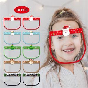 Çocuklar Temizle Yüz Gözler Shield Anti-sis İzolasyon Plastik Yüz Koruyucu Tam Kapak Görünür Dudak Okuma Maskesi Noel Cadılar Bayramı HHC2168 Maske
