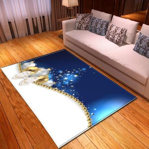 Christmas Carpet Home Decor Area Rug Dining Table Mats Kids Bedroom Crawling Play Mat Bedside Rugs Flannel Living Room Carpets