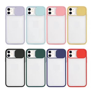 Armor Protection Matte Bumper Lens Push-pull Skin-friendly Shockproof Anti-Fall Back Cover Phone Case for iPhone 78 XR X XS 11 12 Pro Max