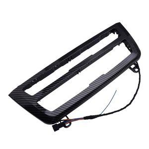 Car Center Console Dashboard AC Panel Light Radio Trim LED Luminescent fit for 3 4 Series F30 LCI Carbon Fiber Texture