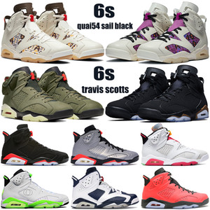 Top Nuevos 6 6s jumpman zapatos para hombre de baloncesto DMP Travis Scotts quai54 vela Oregon Ducks marrón, negro, blanco Hare hombres zapatillas de deporte