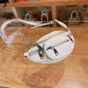 Designer -black and white designer brand waist bag for men and women hot sale unisex designer chest bag high quality leather Fanny pack