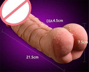 Enorme realistico Dildo di Coppie Super Realistic culo figa cazzo pene Female Masturbation Vagina Enlarger Dildo giocattoli adulti del sesso