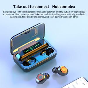 S12 TWS sem fio Bluetooth 5.0 Headphone 2200mAh Waterproof Fones HIFI Noise Stereo Headset Cancelamento de toque Earbuds Poder Display1