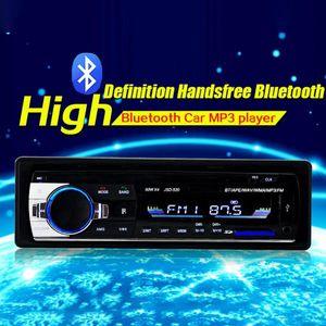 Adeeing Bluetooth Lecteur MP3 Audio stéréo 4X60W voiture Radio 12V au tableau de bord 1 Din FM Aux entrée du récepteur audio Lecteur MP3