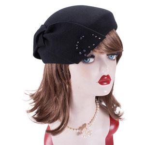 Lawliet Womens Ladies 1940s Vintage Look Wool Felt Tam Beret Casque Cocktail Hat Fascinator A556