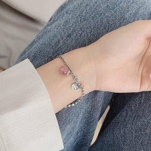 vNV4b 일본과 한국 여름 새로운 925 스털링 실버 딸기 크리스탈 여성 인 간단한 딸기는 모든 경기 학생 크 ë 팔찌
