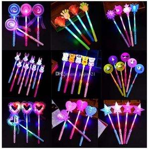 Venta caliente del concierto de dibujos animados barra luminosa LED Juguetes para niños Hada palillo mágico del palillo que destella llevados de la luz Juguetes