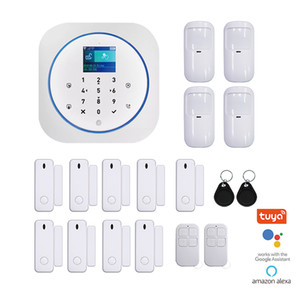Tuya WiFi GSM Home Alarm System Wireless House Security Alarm With IP Camera Smart Life APP Alexa Google Home Voice Control