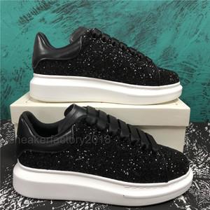 Moda Günlük Ayakkabılar Kadın Erkek Erkek Günlük Yaşam Chaussures Kaykay Ayakkabı Moda Platformu Yürüyüş Eğitmenler Siyah Glitter Shinny