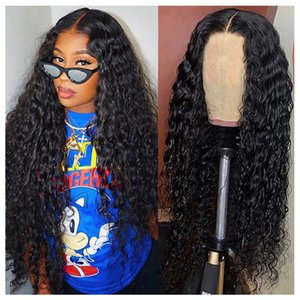 Black Long Curly Hair Lace Wig, With Baby Girl 13x4 Kinky Curly Hair Synthetic Lace Front Wig, Heat-resistant Fiber