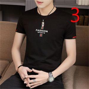 Men's short-sleeved t-shirt 2019 summer new tide embroidery fashion lapel half sleeve Slim 0924