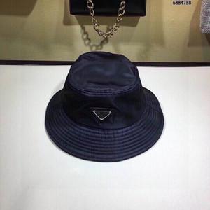 Trendy chapéu pescador masculino e feminino triângulo invertido pano de nylon padrão chapéu bacia pára-sol impermeável chapéu grande balde