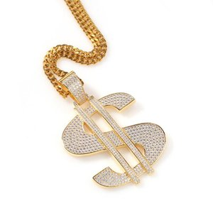Minimalism HipHop Star Street Music Metal Necklace New Explosion Large Dollar sign pendant link chain necklace