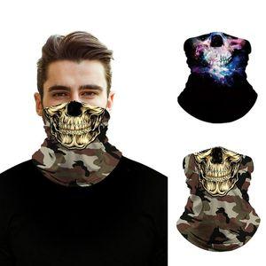 3d Printing Neck Buffs Bandana Cosplay Face Mask Halloween Headband Outdoors Cycling Neck Gaiter Seamless Bandana