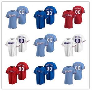2020 erkek kadın çocuklar Delino desniess jersey nolan ryan joey gallo rougned koku shin-soo choo cole hamels prens fielder beyzbol formaları