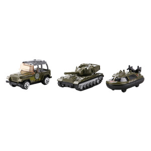 3pcs 1:64 alliage Jeep voiture + Voiture de police + sous-marine Model Army Base de Toy Soldier Army Men Accessoires