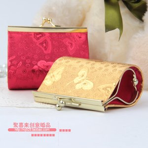 Box Pcs Small Candy Box Wedding Gourd Bag Brocade Leather Ideas Buckle Personalized Candy 10 Clip Gift Wallet Fbpsw