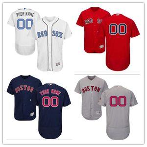 مخصص أي عدد اسم ذات جودة أعلى والبلوزات طفل البيسبول جيرسي بوسطن #Red رمادي وايت سوكس البحرية الأب يوم الرجال ارتداء النساء الشباب