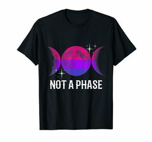Schwarz keine Phase Bisexual Flag Shirt Lgbt Bi Homosexuell Pride Mond-Geschenk-T-Shirt Kundenspezifische Sonderdruck-T-Shirt