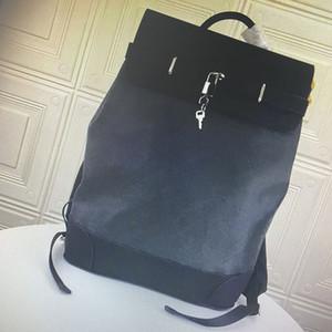 M44052 Top Quality NAVIO real de couro Mochilas clássico Moda Ombros Alças Exteriores Viagens Homens Grande Capacidade Backpack