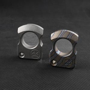 Andy Frankart SFK anillo de dedo TC4 Titanium de defensa personal dagas de perforación al aire libre del bolsillo de la hebilla de supervivencia EDC Knuck nudillos herramientas Multi
