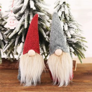 Christmas Faceless Gnome Santa Xmas Tree Hanging Doll Decoration For Home Pendant Gift Drop Ornament New Year Party Supplies YFA2585