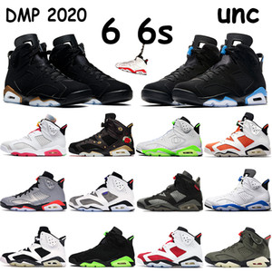 Top 6 6s jumpman scarpe da basket mens sneakers DMP 2020 UNC alternativo lepre sportive blu di volo argento riflettente formatori a infrarossi in bianco