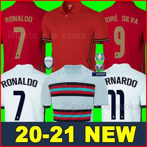 2020 2021 maillot de Portugal football soccer jersey shirts 20 21 RONALDO ANDRE SILVA coupe du monde PEPE J.MARIO QUARESMA BERNARDO NANI EDER équipe nationale AAA Thaïlande qualité