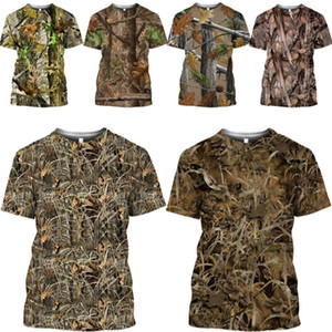 مامبا أعلى الأشجار التمويه T قميص الصيف الساخن 3D لعبة الصيد الغابة إخفاء رجالية القمصان موقع قراء بدلة رجالية المتناثرة المرأة التي شيرت