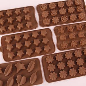 Silikon-Schokoladen-Form-Herz Runde Pyramide Cartoon-Tier-Entwurfs-Silikon-Form-3D-Gelee-Süßigkeit-Form und GWF1932