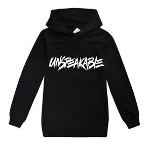 Meninos adolescentes camisola do Hoodie Unspeakable amantes Youtuber Vlog com capuz Tops Preto Rosa Meninas Casacos revestimento roupa