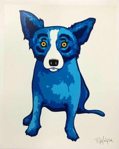 George Rodrigue Blue Dog Purity of Soul 2005 Home Decor Artesanato / HD impressão pintura a óleo sobre tela Wall Art Canvas Pictures 200909
